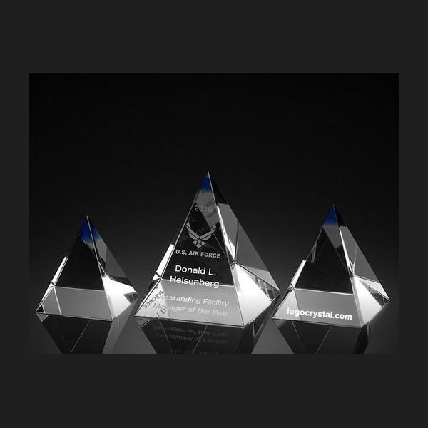3d Laser Crystal Pyramid 2d Laser Etched Crystal Pyramid